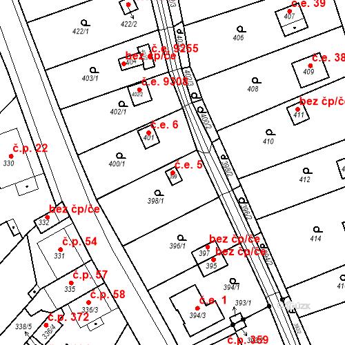 Katastrální mapa Stavební objekt Skorotice 5, Ústí nad Labem