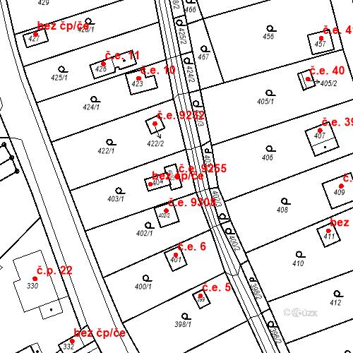 Katastrální mapa Stavební objekt Skorotice 9255, Ústí nad Labem