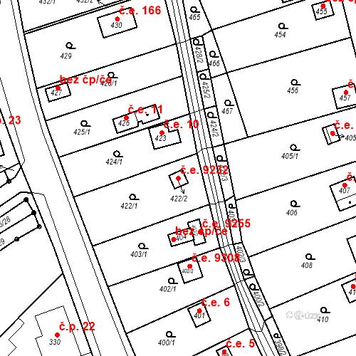 Katastrální mapa Stavební objekt Skorotice 9232, Ústí nad Labem