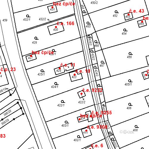 Katastrální mapa Stavební objekt Skorotice 10, Ústí nad Labem