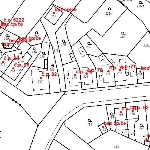 Katastrální mapa Stavební objekt Skorotice 79, Ústí nad Labem