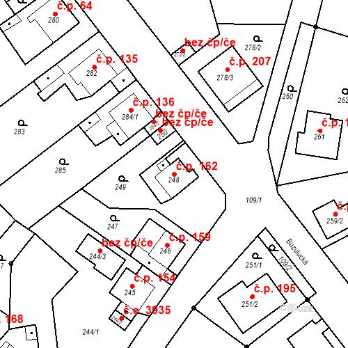 Katastrální mapa Stavební objekt Skorotice 162, Ústí nad Labem