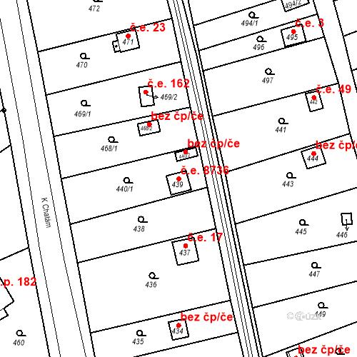 Katastrální mapa Stavební objekt Skorotice 8736, Ústí nad Labem