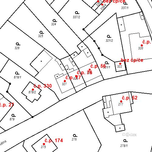 Katastrální mapa Stavební objekt Skorotice 76, Ústí nad Labem