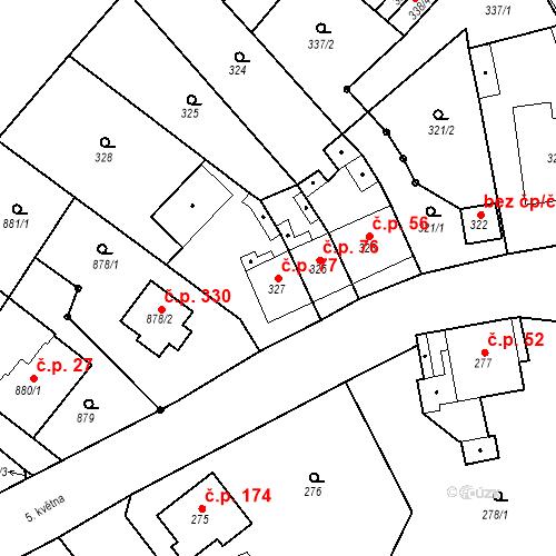Katastrální mapa Stavební objekt Skorotice 77, Ústí nad Labem