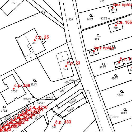 Katastrální mapa Stavební objekt Skorotice 23, Ústí nad Labem