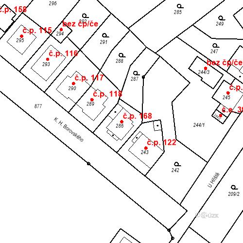 Katastrální mapa Stavební objekt Skorotice 168, Ústí nad Labem