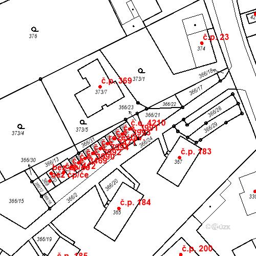 Katastrální mapa Stavební objekt Skorotice 4210, Ústí nad Labem