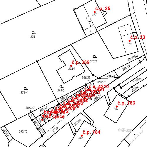 Katastrální mapa Stavební objekt Skorotice 369, Ústí nad Labem