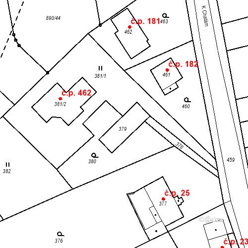 Katastrální mapa Stavební objekt Skorotice 21, Ústí nad Labem