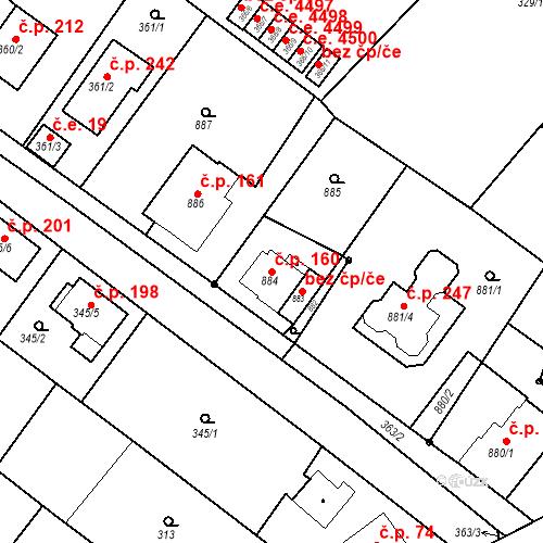 Katastrální mapa Stavební objekt Skorotice 160, Ústí nad Labem