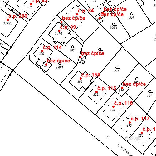 Katastrální mapa Stavební objekt Skorotice 158, Ústí nad Labem