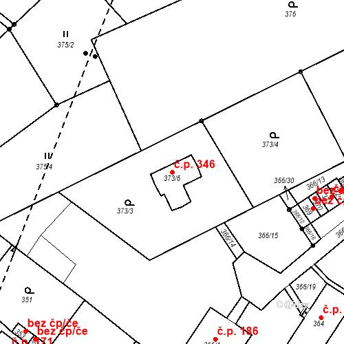 Katastrální mapa Stavební objekt Skorotice 346, Ústí nad Labem