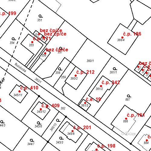 Katastrální mapa Stavební objekt Skorotice 212, Ústí nad Labem