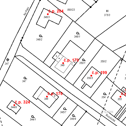 Katastrální mapa Stavební objekt Skorotice 170, Ústí nad Labem