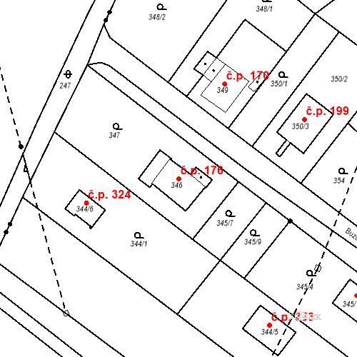 Katastrální mapa Stavební objekt Skorotice 176, Ústí nad Labem