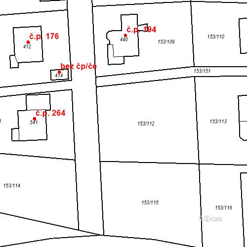 Katastrální mapa Stavební objekt Chrustenice 331, Chrustenice
