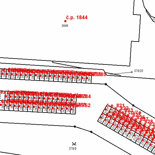 Katastrální mapa Stavební objekt Slaný 787, Slaný