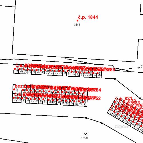 Katastrální mapa Stavební objekt Slaný 791, Slaný