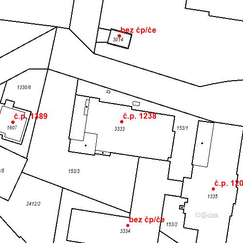Katastrální mapa Stavební objekt Slaný 1238, Slaný
