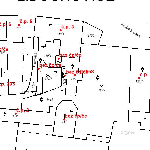 Katastrální mapa Stavební objekt Libochovice 868, Libochovice