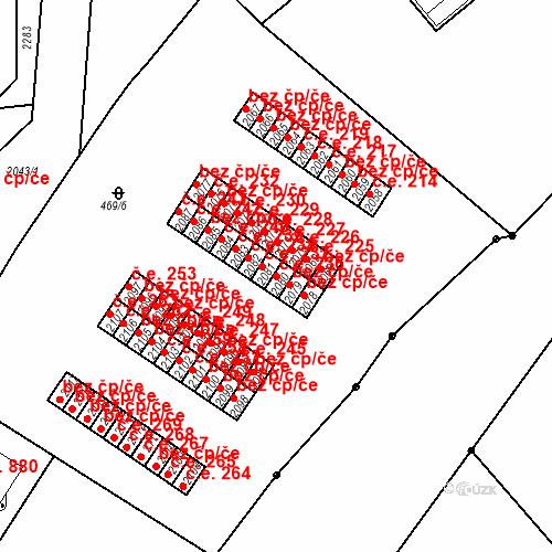Katastrální mapa Stavební objekt Slaný 236, Slaný