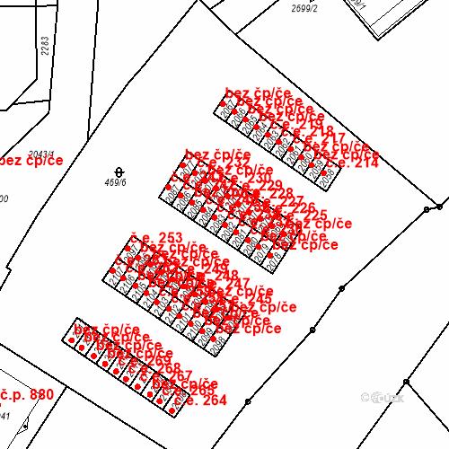 Katastrální mapa Stavební objekt Slaný 238, Slaný