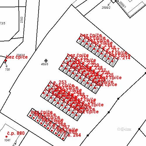 Katastrální mapa Stavební objekt Slaný 240, Slaný