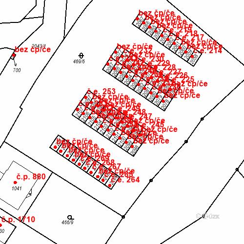 Katastrální mapa Stavební objekt Slaný 247, Slaný