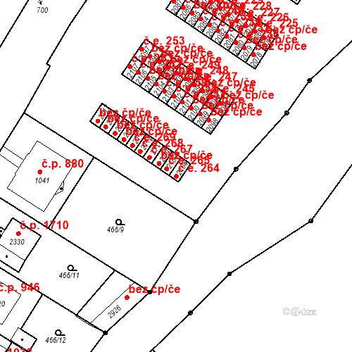 Katastrální mapa Stavební objekt Slaný 264, Slaný