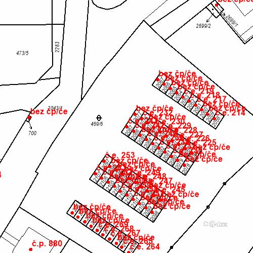 Katastrální mapa Stavební objekt Slaný 243, Slaný