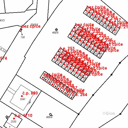 Katastrální mapa Stavební objekt Slaný 260, Slaný