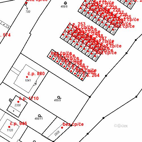 Katastrální mapa Stavební objekt Slaný 267, Slaný