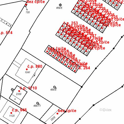 Katastrální mapa Stavební objekt Slaný 268, Slaný