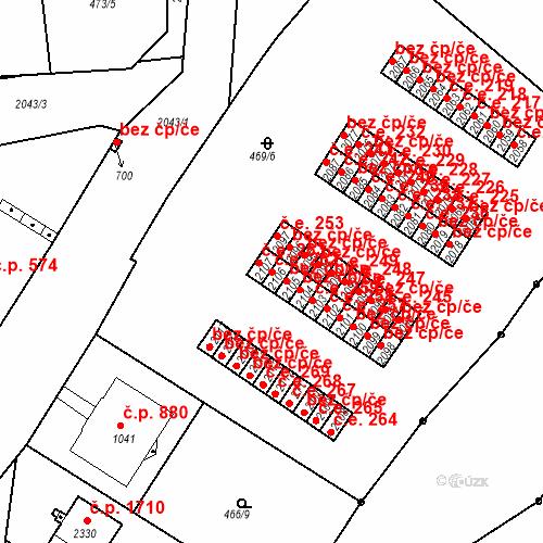 Katastrální mapa Stavební objekt Slaný 262, Slaný
