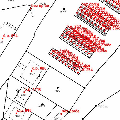 Katastrální mapa Stavební objekt Slaný 270, Slaný