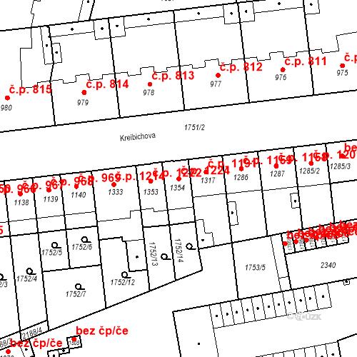 Katastrální mapa Stavební objekt Slaný 1224, Slaný
