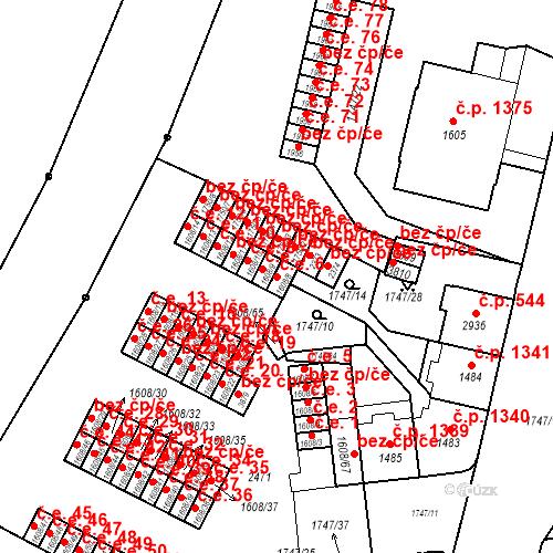 Katastrální mapa Stavební objekt Slaný 6, Slaný