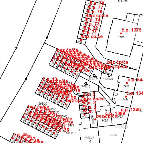 Katastrální mapa Stavební objekt Slaný 7, Slaný