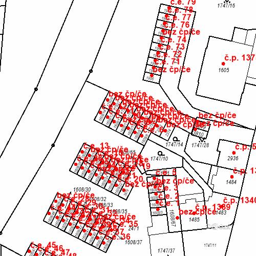 Katastrální mapa Stavební objekt Slaný 8, Slaný