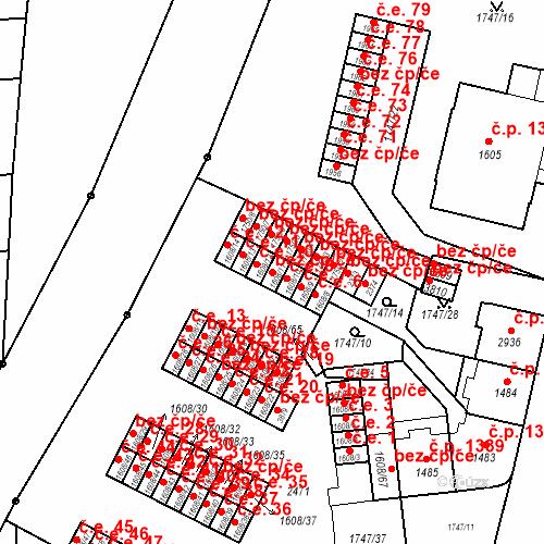 Katastrální mapa Stavební objekt Slaný 9, Slaný