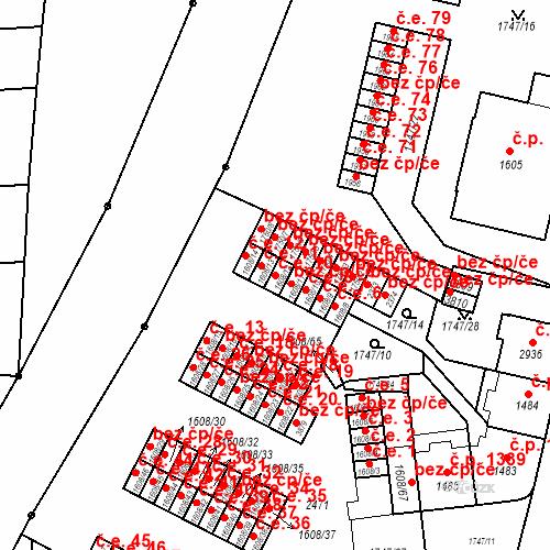 Katastrální mapa Stavební objekt Slaný 10, Slaný