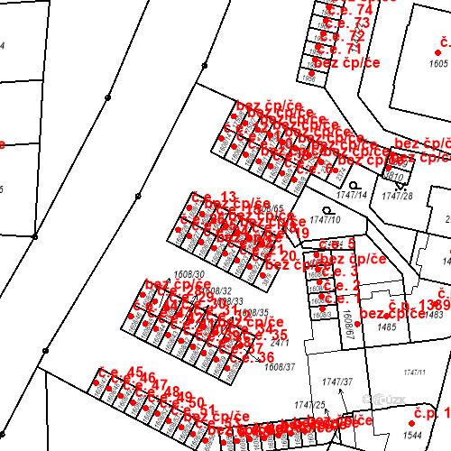 Katastrální mapa Stavební objekt Slaný 16, Slaný