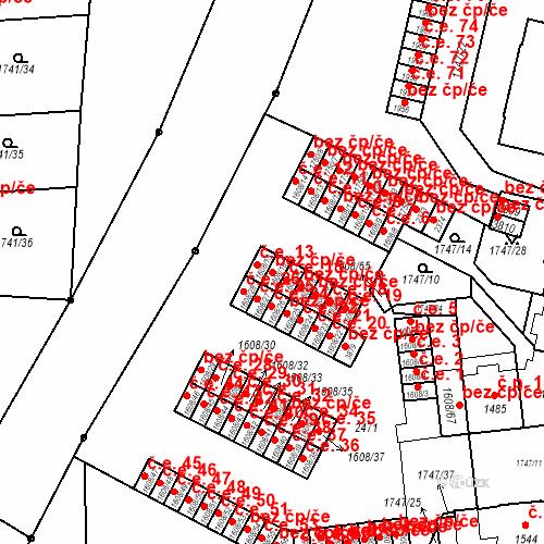 Katastrální mapa Stavební objekt Slaný 14, Slaný