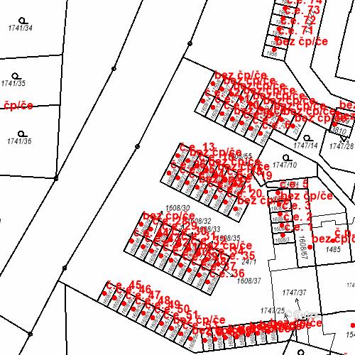 Katastrální mapa Stavební objekt Slaný 25, Slaný