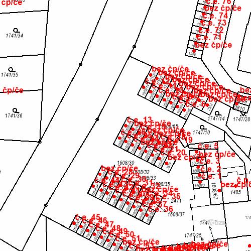 Katastrální mapa Stavební objekt Slaný 13, Slaný