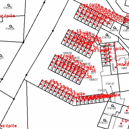 Katastrální mapa Stavební objekt Slaný 30, Slaný