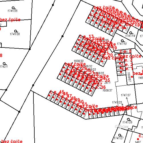 Katastrální mapa Stavební objekt Slaný 29, Slaný