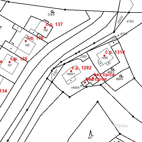 Katastrální mapa Stavební objekt Slaný 1282, Slaný