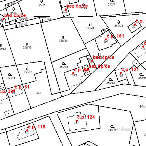 Katastrální mapa Stavební objekt Srbsko 84, Srbsko